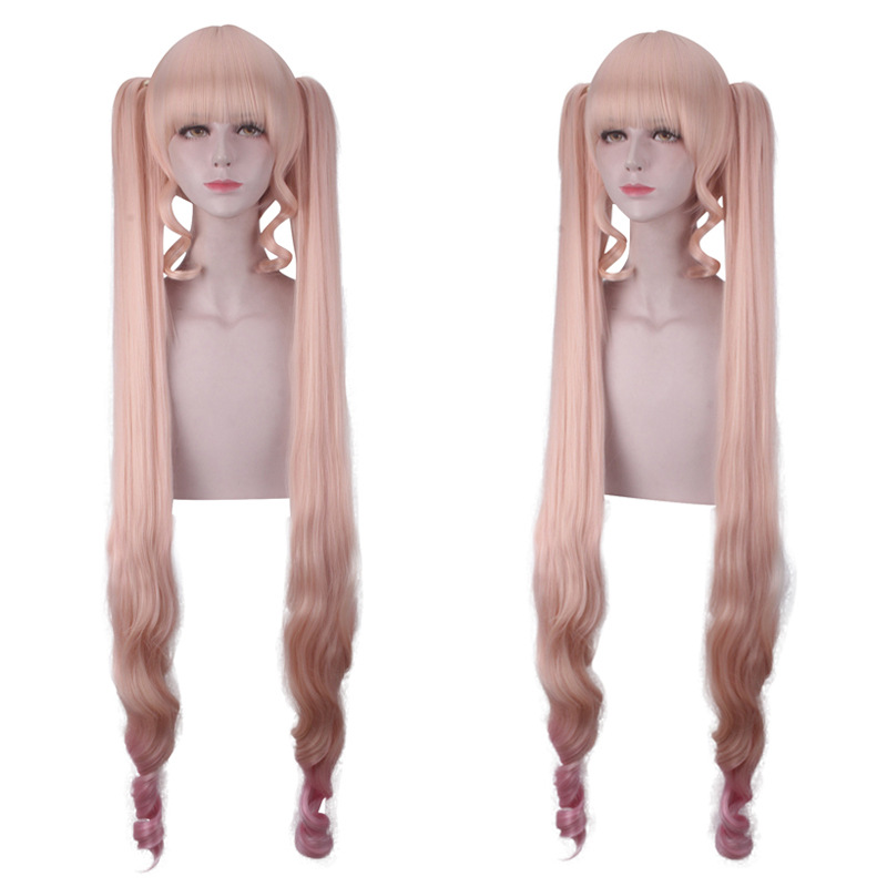 100% Quality Rozen Maiden Shin Ku Reiner Rubin Long Pink Ombre Cosplay Wig Synthetic Hair Perucas Halloween Costume Party Play Wigs For Women Soft And Light