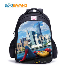LUOBIWANG Cartoon Super Hero Spider Man Children Backpack Man:Homecoming Printing Schoolbag Mochila