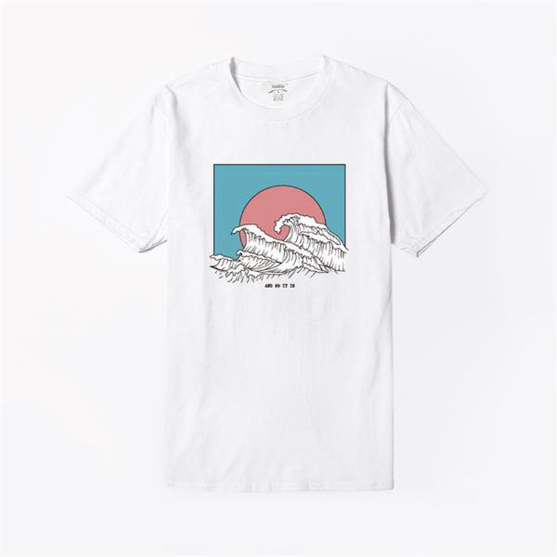 And So It Is Ocean The Great Wave of Aesthetic T-Shirt Women Tumblr 90s Fashion Graphic Tee Cute Summer Tops Casual T Shirts 3