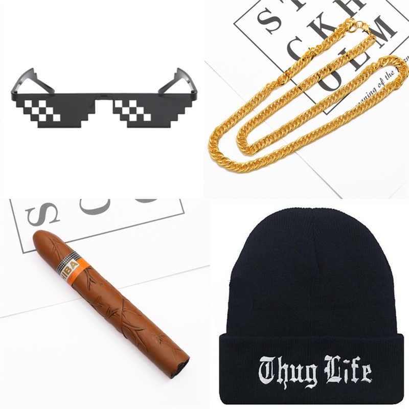 3aa05448001 ... Yooske Thug Life Glasses Hats Necklace Deal With It Sunglasses Women  Men Brand Designer Thug Life