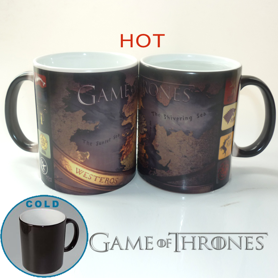 Game of Thrones mugs Color Changing Magic Heat sensitive Tea Cup Coffee Mug heat reveal coffee cups mug ceramic tea cups