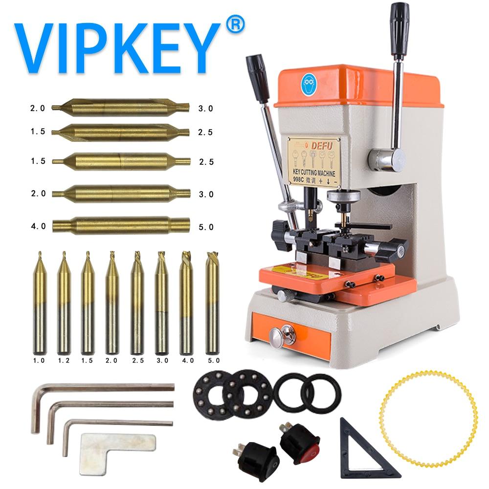 DEFU 998C Key Cutting Machine 220V 110V Key Duplicating Machine for making keys locksmith tools electric motor parts for defu key cutting machine 368a 339c model 110v 130volts or 220v 240volts