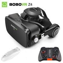 Bobovr z4 bobo caixa óculos 3d realidade virtual google papelão controlador bluetooth fone de ouvido vr original para smartphone
