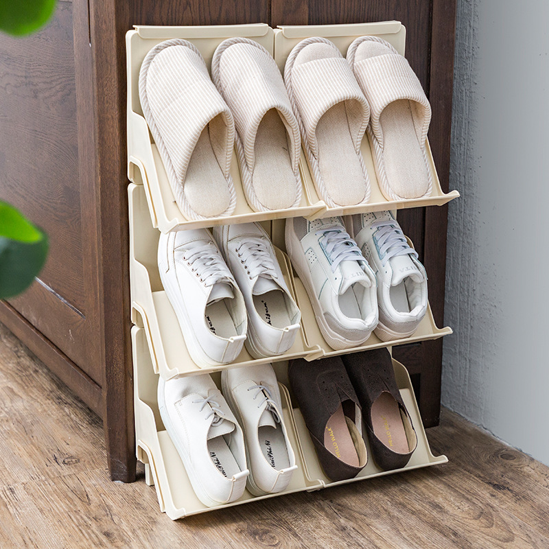 Multi-layer Stitching Shoe Rack Can Be Superimposed Hanging Shoe Rack Stitching European-style Portable Dormitory Home Storage