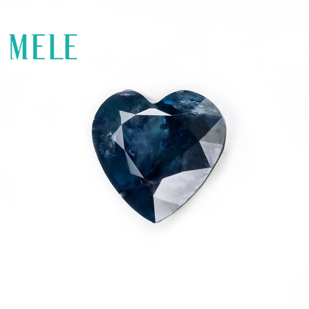 Loose Gemstone Heart-Cut Blue Sapphire Natural Jewelry for Making 5x5mm DIY with High-Quality