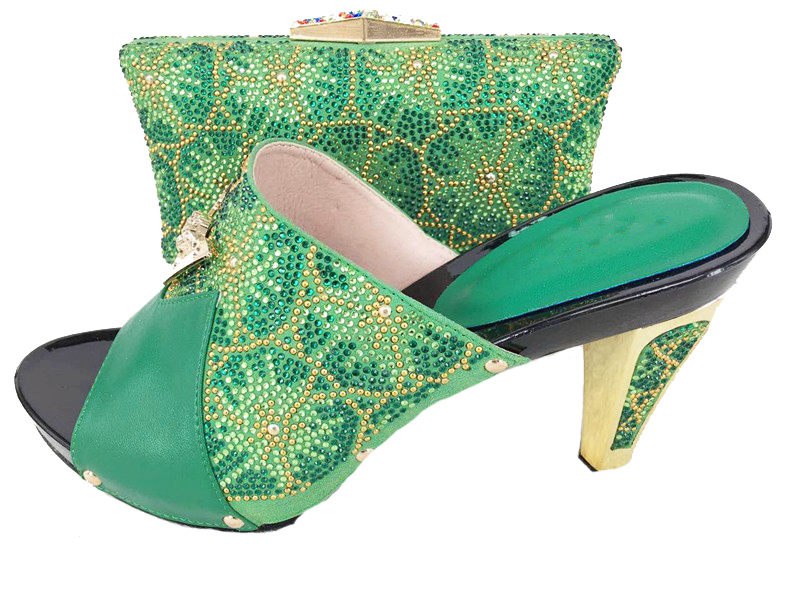 Aliexpress.com  Buy Nice Green Shoes And Bag Matching Set Italian Fashon 2017 Newest Design ...