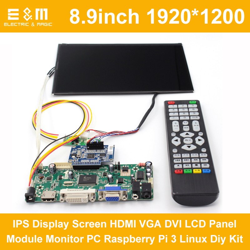 8,9 Zoll 1920*1200 Ips Display Screen Hdmi Vga Dvi Lcd Panel Modul Monitor Pc Raspberry Pi 3 Linux Diy Kit