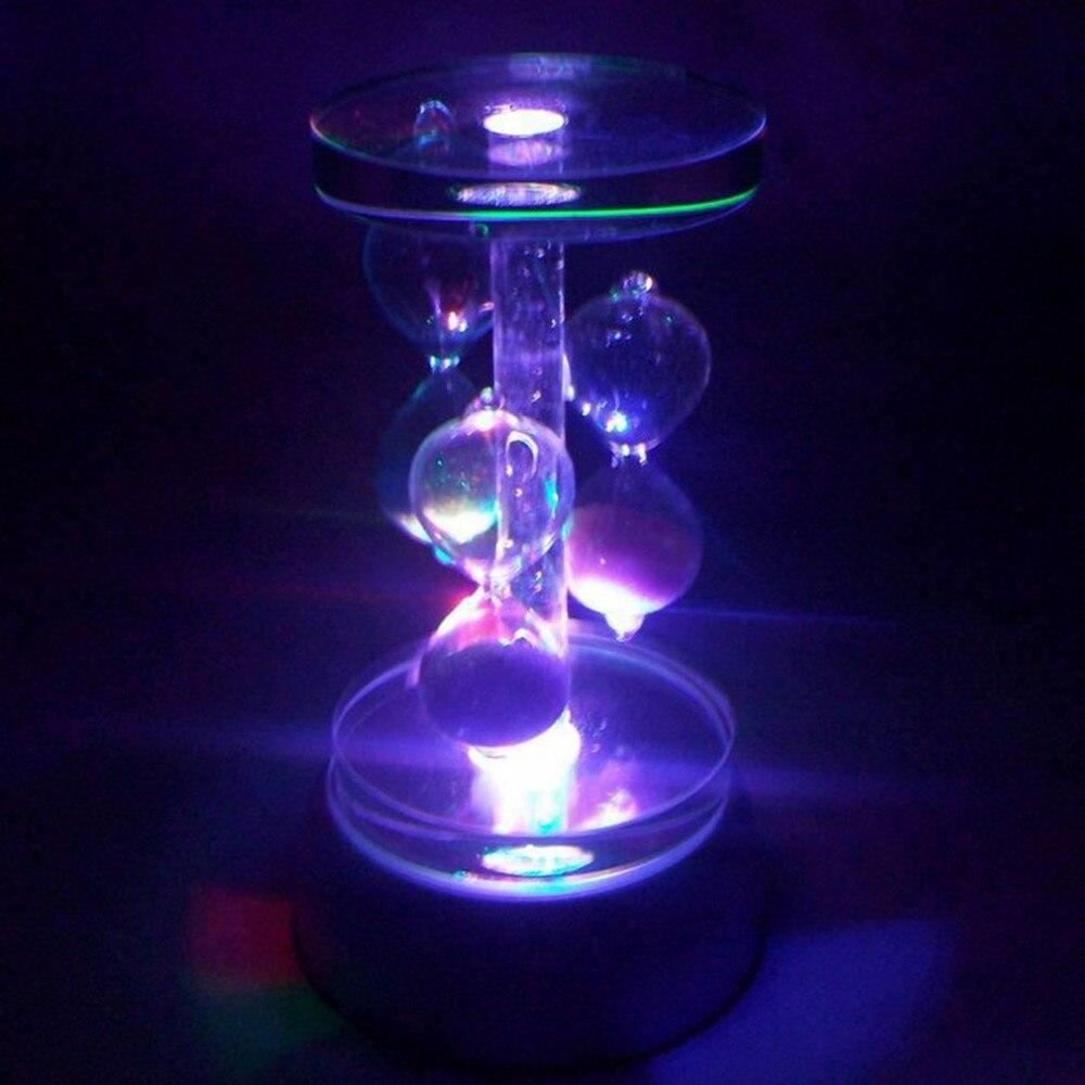 PT runde crystal 4 led licht spieluhr basis crystal box basis geschenk box