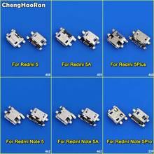 цена на ChengHaoRan 10pcs Micro USB Connector Jack Socket Female Charging Port Power Plug Dock for Xiaomi Redmi 5 5A 5Plus Note 5 5A Pro