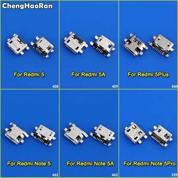 цена на ChengHaoRan 10pcs Micro USB Connector Jack Socket Female Charging Port Power Plug Dock for Xiaomi Redmi 5 5A 5Plus Note 5 5A Pro