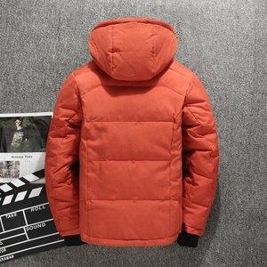 Image 5 - Di spessore Caldo Cappotto di Inverno Degli Uomini Con Cappuccio casual Man Outdoor Imbottiture Giacca Parka di Modo Giacca A Vento Cappotto Uomo