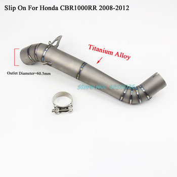 CBR1000RR Titanium Manifold Slip On For Honda CBR1000 RR 2008-2012 Motorcycle Modified Exhaust Muffler Middle Link Pipe Tube