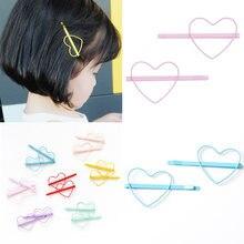 1 paire Coréenne Vernis Étuvage Étoiles Coeur Style Pince à Cheveux Bang  Clip Cheveux Accessoires Enfants Filles Épingle à Cheve. 06d34782669