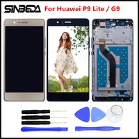 Sinbeda New AAAAA 5 2 For Huawei P9 Lite LCD Display Touch Screen Digitizer Assembly Frame