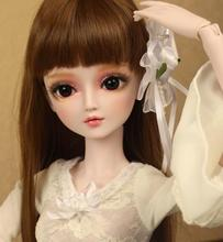 лучшая цена FULL SET Top quality 1/3 bjd girl 60cm pvc doll wig clothes all included night lolita reborn baby doll xuefenfei best gift toy