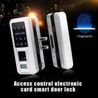 Electric Intelligent Electric Fingerprint Lock Keyless Smart Lock Glass Fingerprint Lock Touch Screen LCD Screen W/Keypad