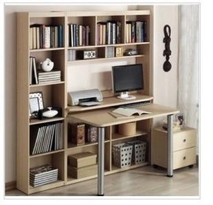 The latest care Mayer double bookcase computer desk desk Ikea bookcase  combination of home desktop desk with drawers