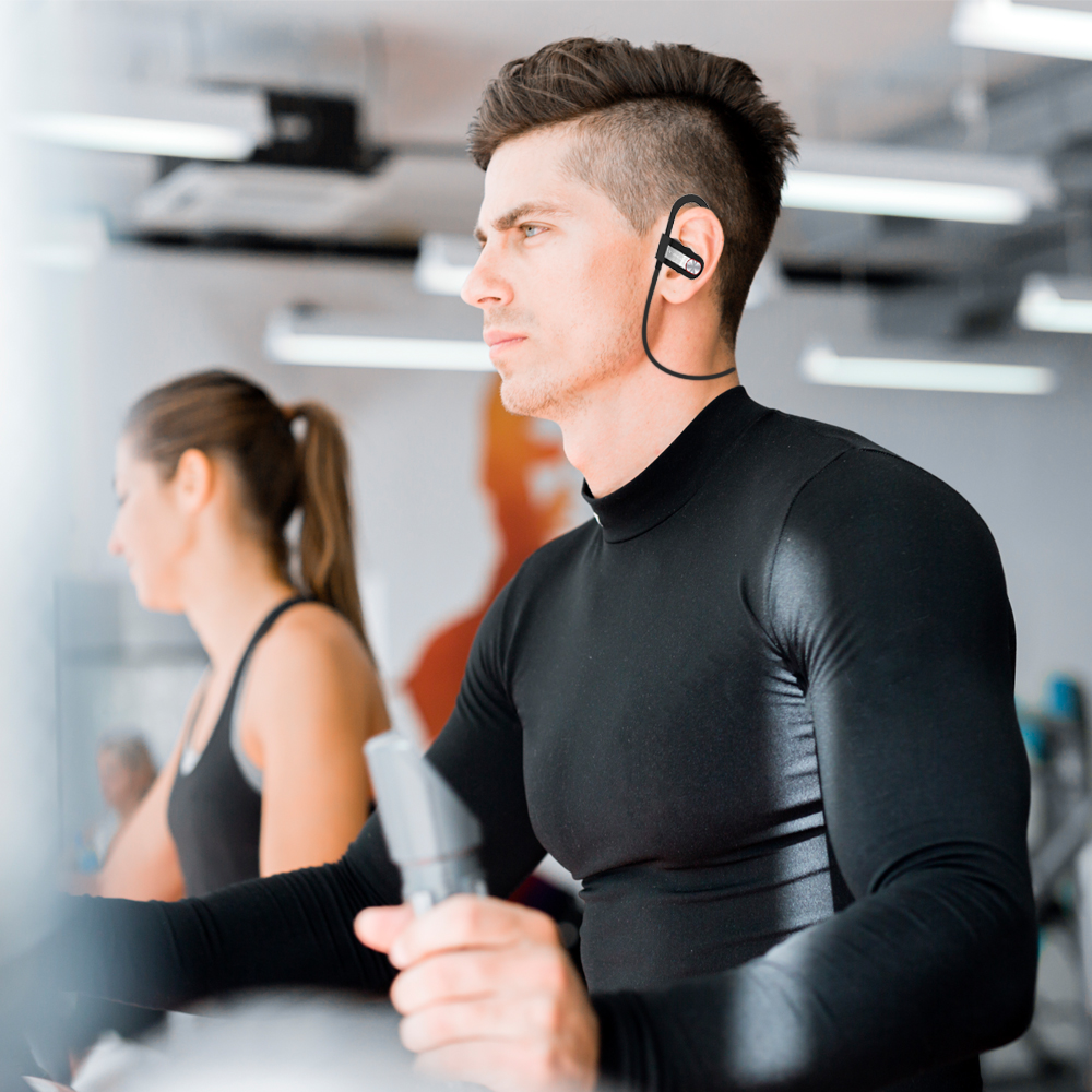Bluetooth 4 1 Wireless Headset Music Bluetooth Earphone Ear Hook Waterproof Sport Headphone for iPhone 4 4s 5 6s xiaomi Samsung in Bluetooth Earphones Headphones from Consumer Electronics