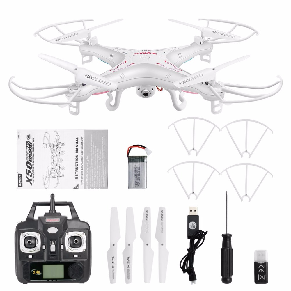 2.4G 4CH RC Quadcopter Drone 6-Axes Gyro UAV RTF UFO with 2MP HD Camera Stronger Wind Resistance 50 Meters RC Drone Cool Toys high quality syma x8c 2 4ghz 6 axis gyro uav rtf ufo with wide angle 2mp hd camera rc drone quadcopter helicopter