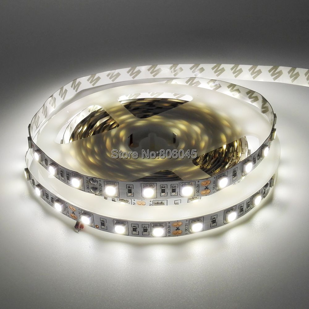 5050 SMD Neutral White LED Strip DC12V 4000K Nature White Flexible Strip Light Ribbon Tape 5M 300 LEDs IP20 IP65 Waterproof