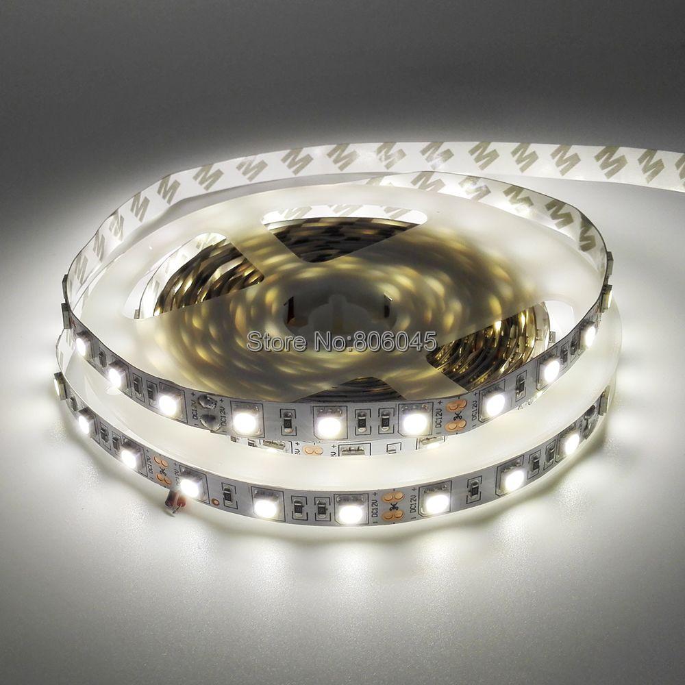 5050 SMD Neutral White LED Strip DC12V 4000K Nature White Flexible Strip Light Ribbon Tape 5M 300 LEDs IP20 IP65 Waterproof