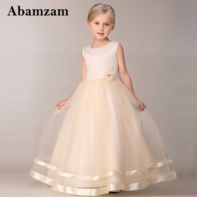 Maxi Summer Kids Wedding Dresses For S Designs Long Evening Party Bridesmaid Formal Robe Fille Little
