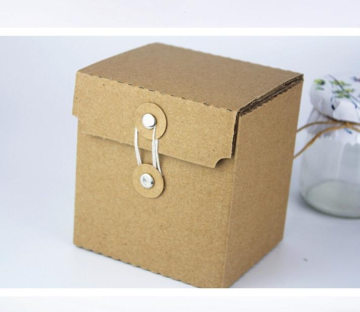 10 Pcs Or Kraft Papier Cadeau Boite D Emballage Petit Kraft