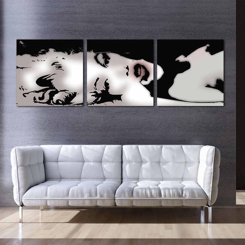 3 لوحة النفط اللوحة الحديثة قماش يطبع اللوحة ديكور المنزل الفن صورة زيت مثير مارلين مونرو جدار اللوحات