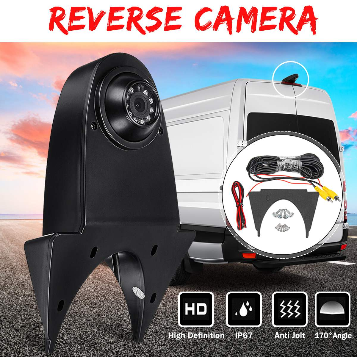 170° Car Auto Reverse Backup Rear View Camera For Mercedes For Benz Sprinter For Nissan For Navara