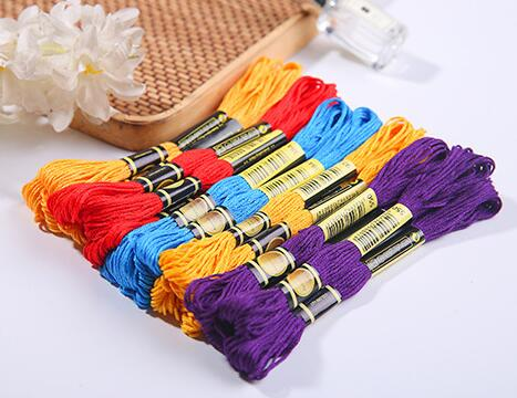 Cxc 447pcs 6 Strands Colorful Cotton Thread Chinese CXC DMC Color Cross Stitch Floss DIY Handmade Needlework Embroidery Craft