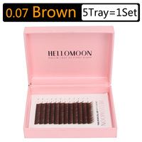 Brown lashes extension, 5 tray = 1 set, 12rows = 1Tray, mink synthetic brown eye lash individual colored eyalash extension