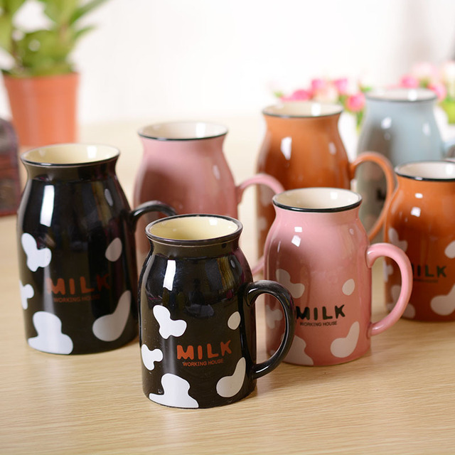 High Quality Cup Mugs Cartoon Multicolor Ceramic Porcelain Enamel ...