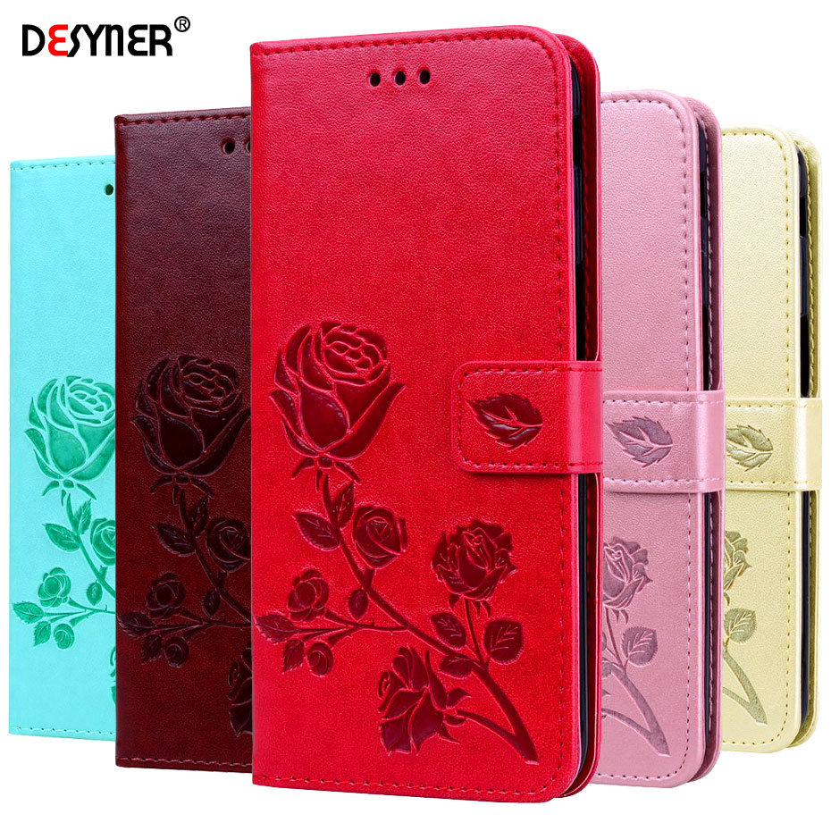 S10 S10e Leather Case on for Samsung galaxy S10 Plus S10e Cover Flower Flip Wallet Phone Case Coque For Samsung galaxy S10