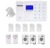 433Mhz/315Mhz Wireless GSM Alarm System With 5 Door Contact 2 PIR Sensor