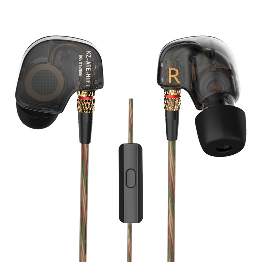 KZ ATE 3.5mm In Ear Earphones HiFi Super Bass Earphone Noise Isolating Headset With/Without Mic For Mobile Phone fone de ouvido