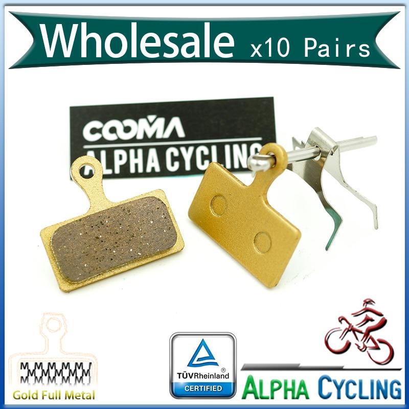 MTB Fahrradscheibenbremsbeläge für Shimano M985, M988, Deore XT M785, SLX M666, M675, Deore M615, Alfine S700, 10 Paar, G-MTL