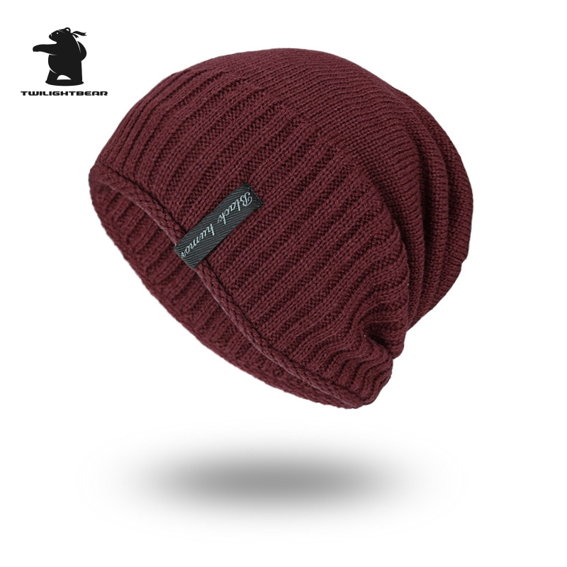 2017 New Men's Winter Hat Fashion Fleece Skiing Beanies Caps Warm Knitted Beanie Bonnet hats men Gorros Invierno Cappelli CY6E54 unisex letter dragon winter hats skullies beanies men woman beanie knitting hat knitted cap new design invierno bonnets gorros