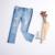 Chicas 2017 de La Moda Nueva Primavera Bordado Bolsillo Damas Pantalones Vaqueros Pantalones Niños Pantalones de Mezclilla Agujero de La Vendimia