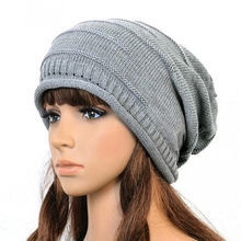 da0fd63c3577d 2018 Warm Winter Hats for Women Men fashion Cable Knitted Knit Baggy Slouch  Beanie Hat Cap