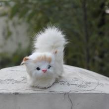 beautiful design furry handmade artificial cat