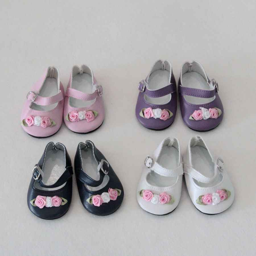 1 Pair Fashion 7cm Mini Toy Floral Shoes For 18 Inch Generation America Girl Dolls For 1/3 Ball Joints Doll Accessory Shoes