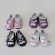 1 Pair Fashion 7cm Mini Toy Floral Shoes For 18 Inch Generation America Girl Dolls 1/3 Ball Joints Doll Accessory