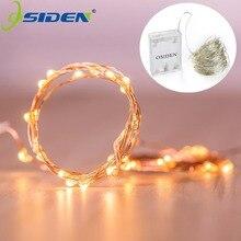 Светодиодный светящаяся гирлянда 2 м 5 м 10 м 100 медная проволока 3XAA на батарейках Рождественская Свадебная вечеринка украшение светодиодный гирлянда