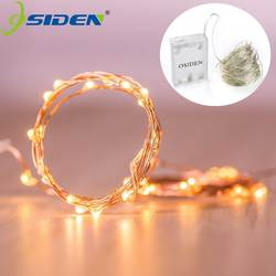 OSIDEN 2 м 5 м 10 M 100 светодиодный строки Медный провод 3XAA Батарея управляемый Рождество Свадебная вечеринка украшения светодиодный Строка