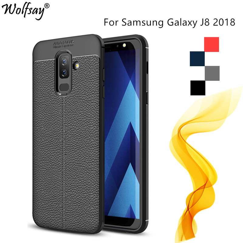 sFor Case Samsung Galaxy J8 Case Cover For Samsung J8 2018 Litchi Silicon Phone Case For Samsung Galaxy J8 2018/On8 J810 6.0inch