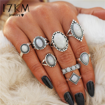 Opal Knuckle Womens Rings Set 1