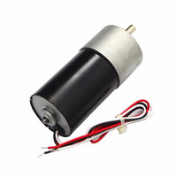 DC 24V Motor Micro Gear Reducer Motor 40RPM Permanent Magnet With Lines