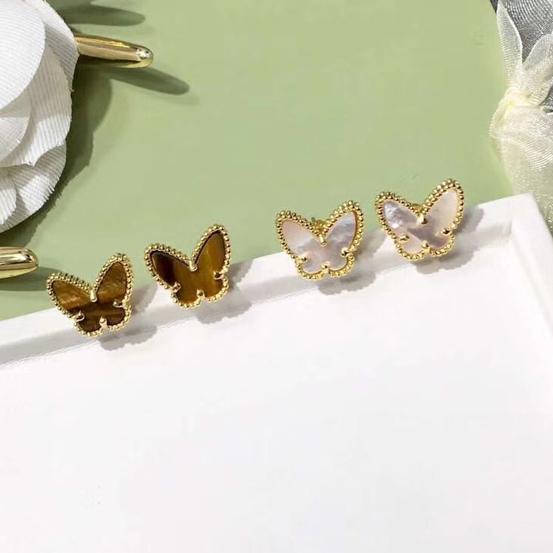 New Brand Pure 925 Sterling Silver Jewelry For Women Butterfly Earrings Small Heart Earrings Cute Fashion Party Silver Jewelry new luxury brand fine exquisite sunshine full of small earrings for women circle wedding party earrings fashion jewelry