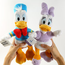 Cute Cartoon Donald Duck Daisy Couple Plush Toy Soft Stuffed Animals Dolls For Valentine Girls Children Kids Birthday Gifts(China)