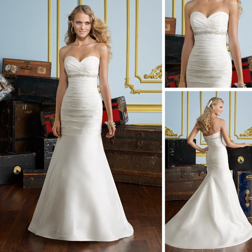 2013 Simple Plain Mermaid Wedding Dress Patterns Dresses Under 100 In From Weddings Events On Aliexpress